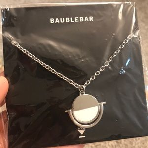 New baublebar disc necklace silver round